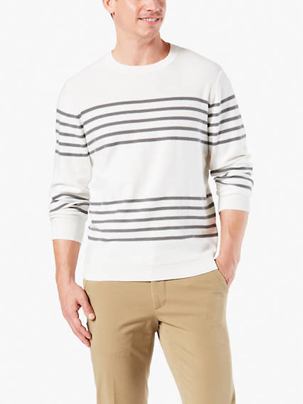 Men's Stripe Crew Sweater