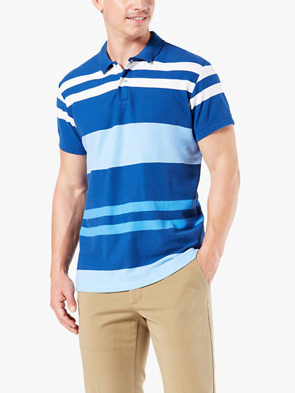 Men's Colorblock Polo Shirt