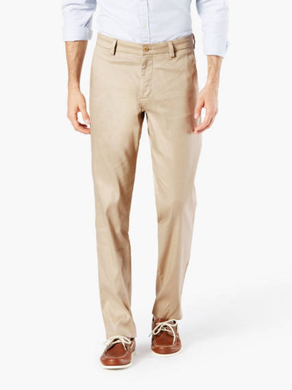 Alpha Refined Chino, Slim (Tapered) Fit - Linen mix