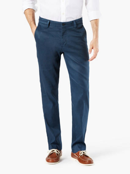 Alpha Refined Chino, Slim (Tapered) Fit- Linen mix
