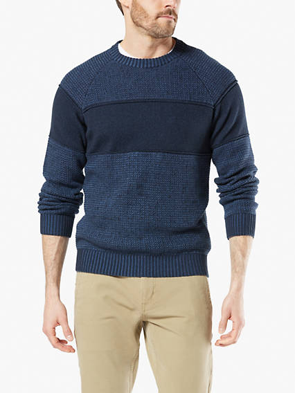 Men's Plaited Crewneck Sweater