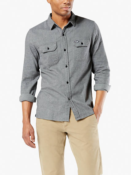 Flannel Button-Up Shirt With All Seasons Tech™