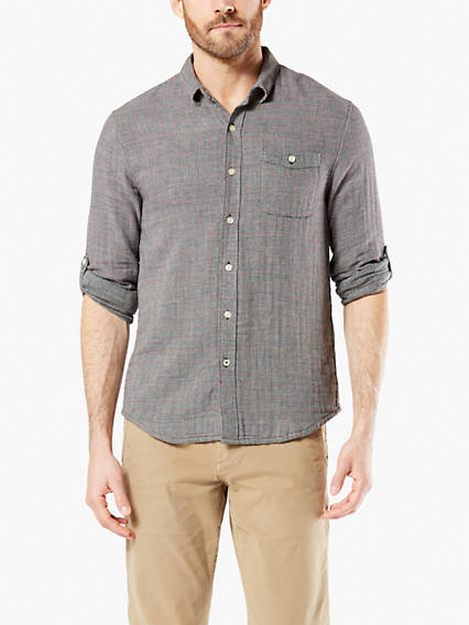 Doublecloth Button-Up Shirt