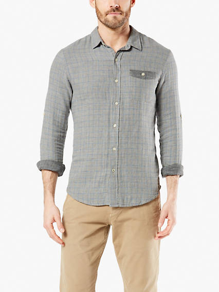 Men's Doublecloth Button-Up Shirt