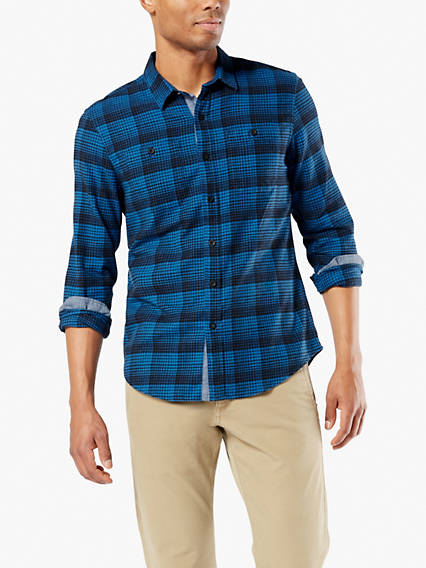 Men's Smart Temp Flannel Button-Up Shirt