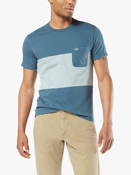 Men's Contrast Pocket Tee