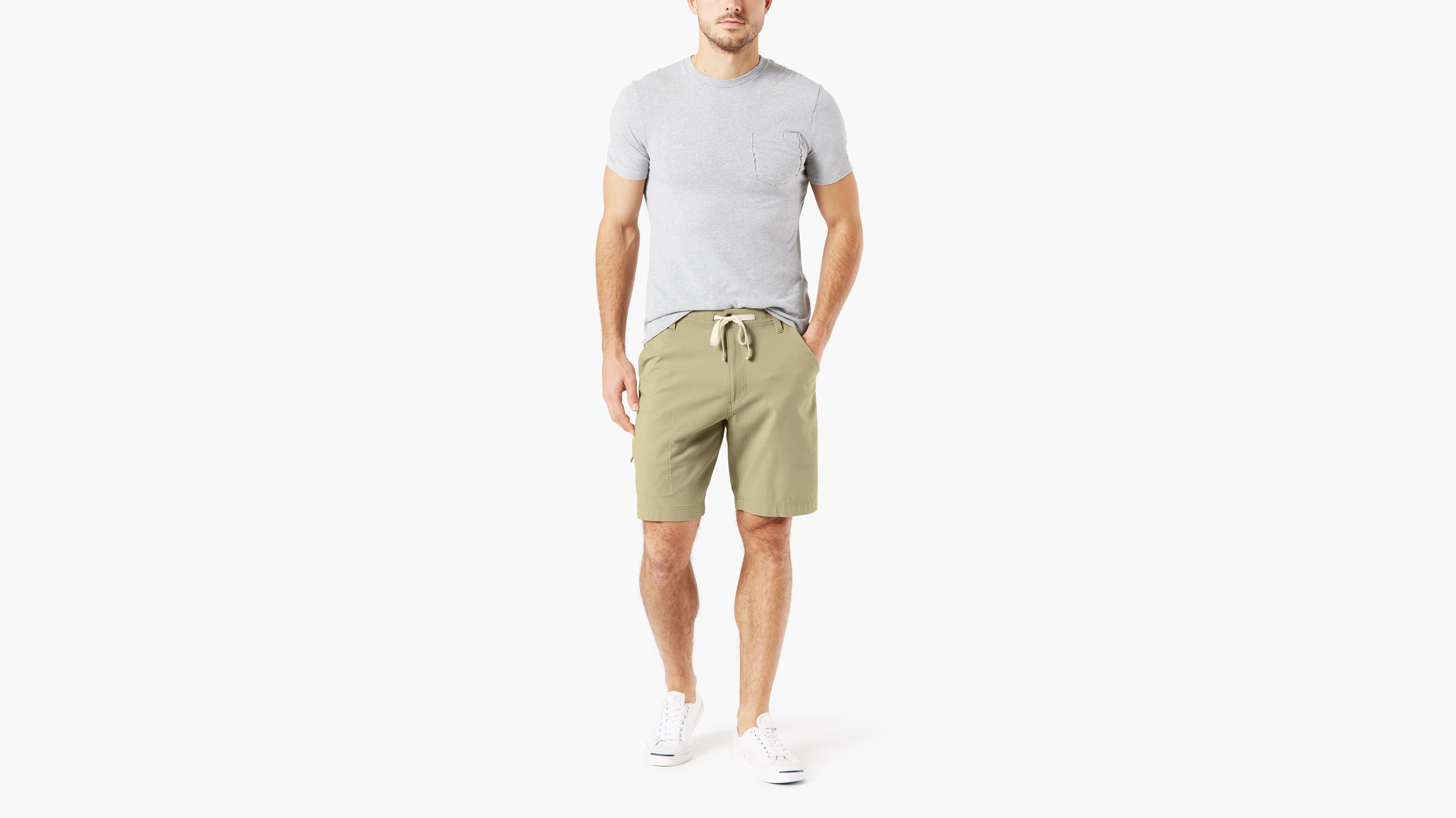 52d72e844861 Utility Shorts With Smart 360 Flex™ Shorts, Straight Fit - Green 798770000  | Dockers® US