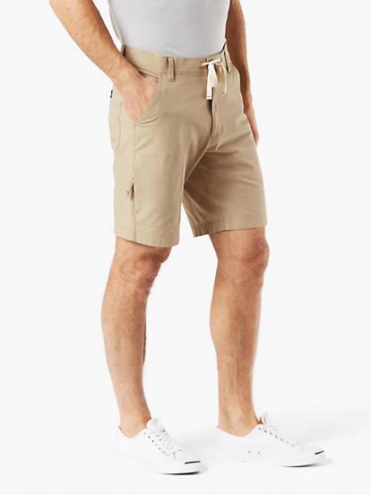 6b9c5ac87f86 Utility Shorts With Smart 360 Flex™ Shorts, Straight Fit - Tan ...