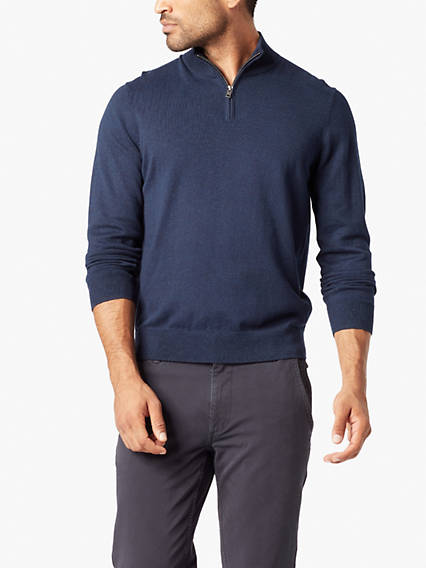 1/4 Zip Mockneck Sweater
