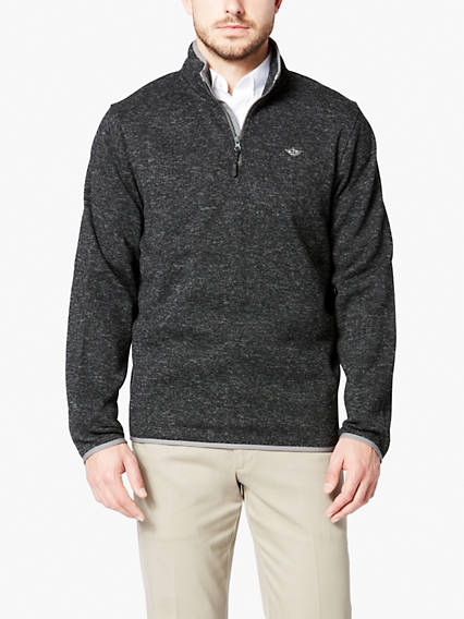 Men's Quarter Zip Fleece Sweater