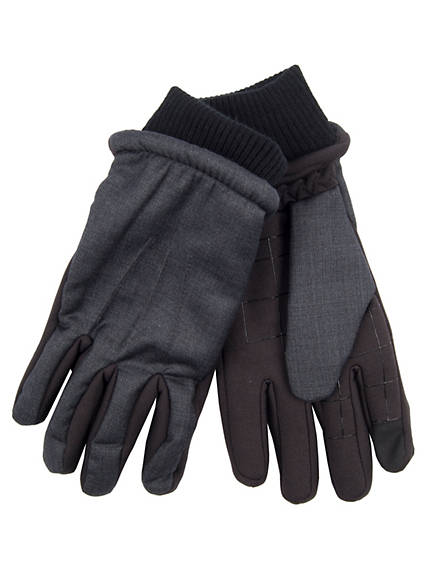 Men's Intelitouch Touchscreen Mixed Media Glove