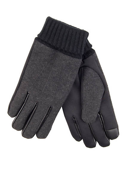 Stretch Wool Glove With Knit Cuff