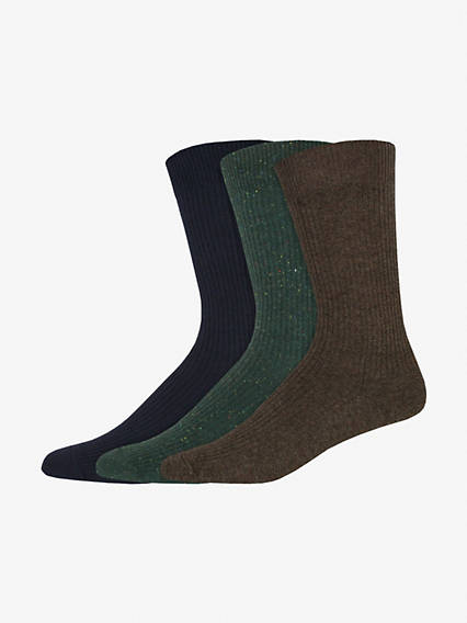 Lightweight Rib Crew Socks