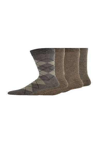 Men's Argyle Dress Crew Socks