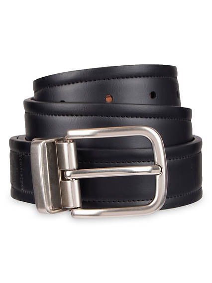 Men's Stitched Stretch Reversible Belt
