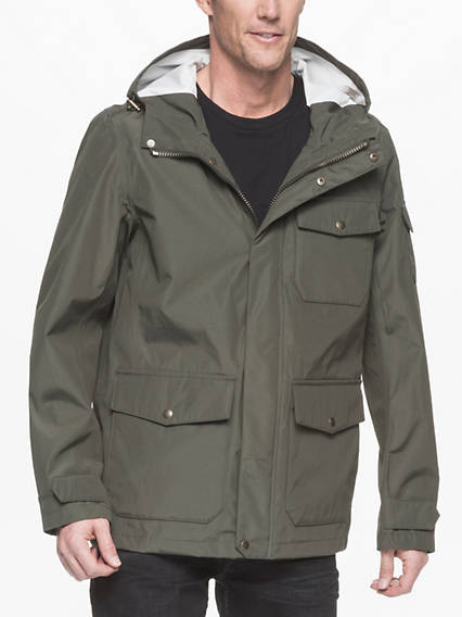 3 Pocket Hooded Rain Shell