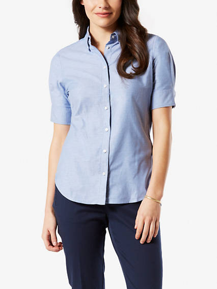 Short-Sleeved Oxford