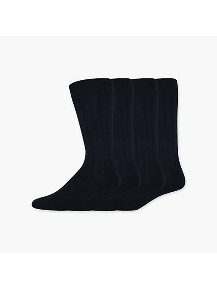 Wide Rib Crew Dress Sock