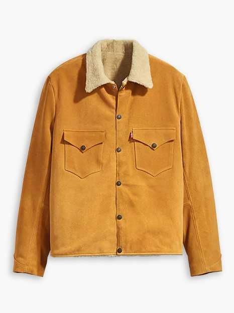 Levi's® Vintage Clothing Suede Sherpa Trucker