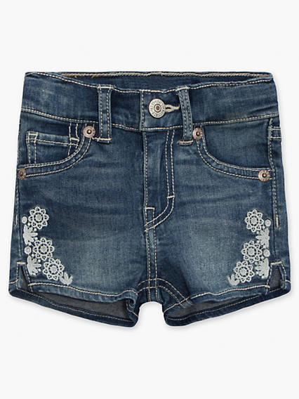 Baby 12-24M Embroidered Shorty Shorts
