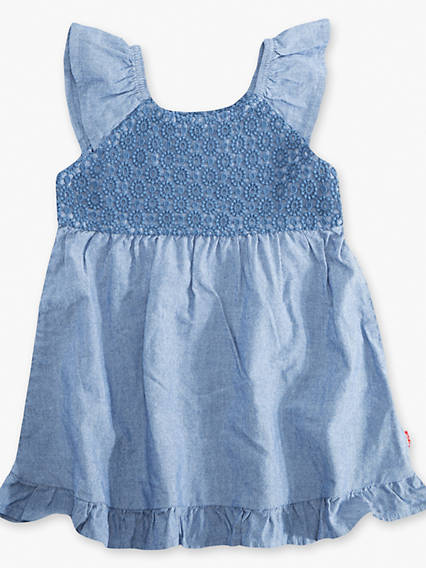 Baby 0-12M Lace Ruffle Dress