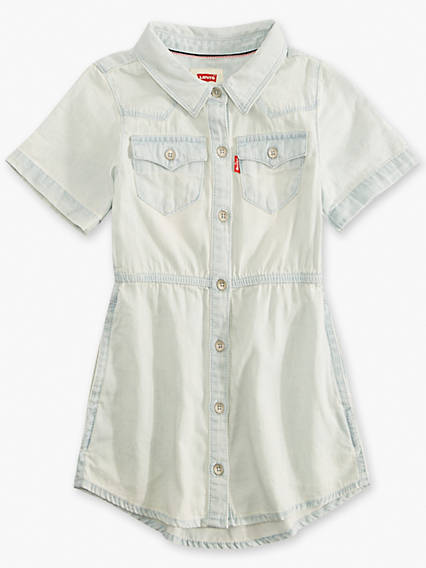 Little Girls 4-6x Short Sleeve Western Dress