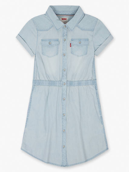 Girls 7-16 Short Sleeve Western Dress