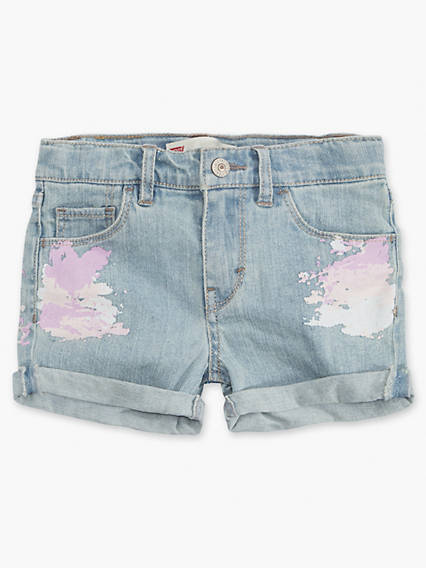Little Girls 4-6x Summer Love Shorty Shorts