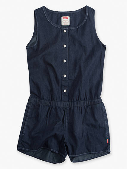 Little Girls 4-6x Woven Romper