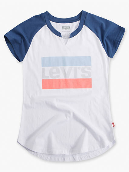 Girls 7-16 Raglan Graphic Tee