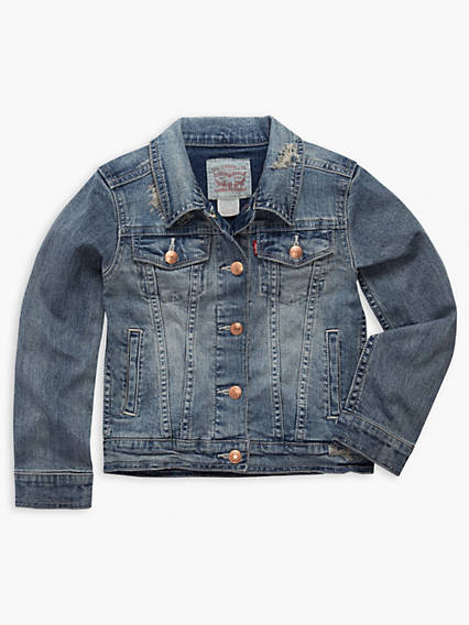 Little Girls 4-6x Denim Trucker Jacket
