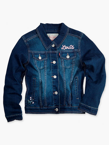 Girls 7-16 Denim Trucker Jacket