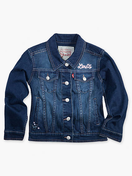 Toddler Girls 2T-4T Denim Trucker Jacket