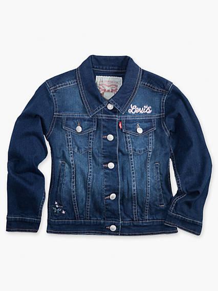 Little Girls 4-6x Denim Trucker Jacket