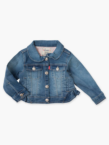 Baby 0-12M Trucker Jacket With Ruffle Hem