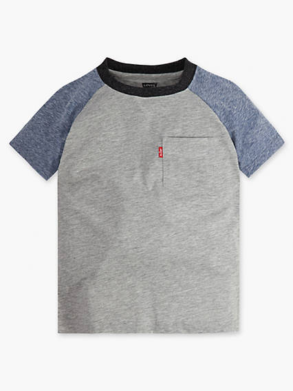 Little Boys 4-7x Raglan Pocket Tee