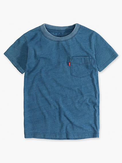 Little Boys 4-7x Indigo Sunset Pocket Tee