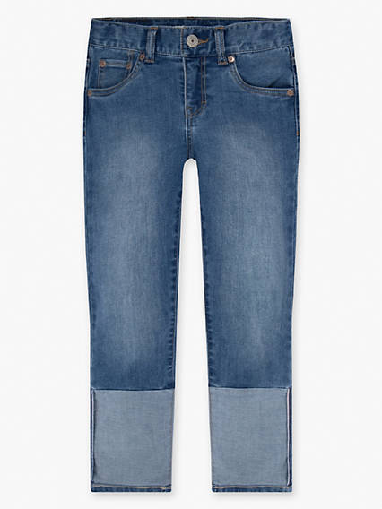 Girls 7-16 Crop Girlfriend Jeans