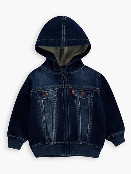 Baby 12-24M Indigo Knit Hoodie