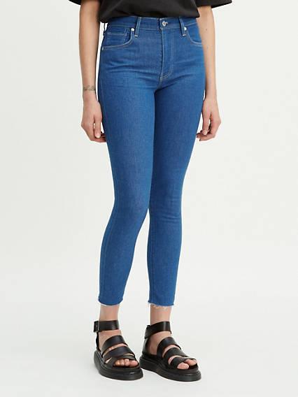 Sliver High Rise Ankle Skinny Jeans