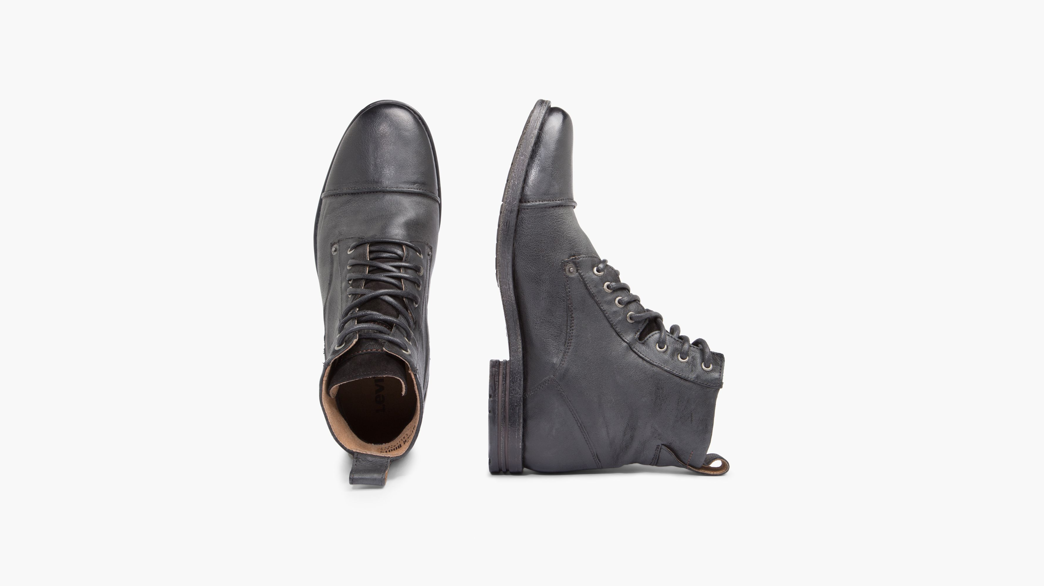 Levis Men's Leather Shoes, Emerson Ankle Boots Black or Brown
