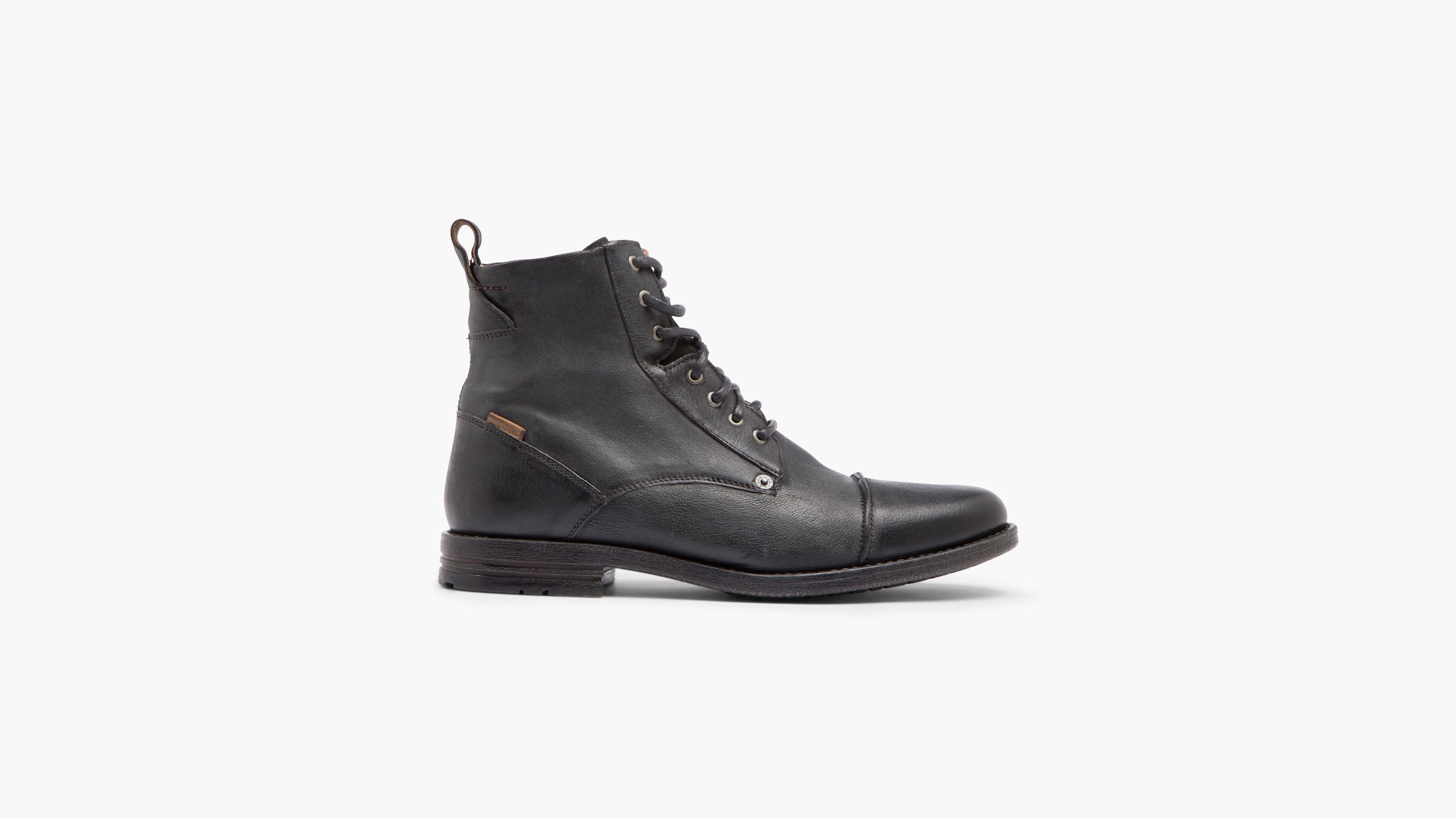 Mens Levi's Cooper Black Lace Up Shoes Z66140