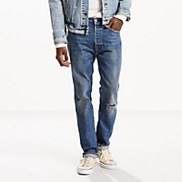 Levis Mens 501 Original Fit Warp Stretch Jeans