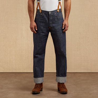 1920s Men's Pants History: Oxford Bags, Plus Four Knickers, Overalls 1915 501® Jeans $260.00 AT vintagedancer.com