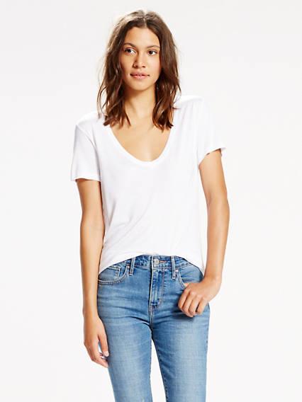 Le t-shirt jersey parfait à col en V