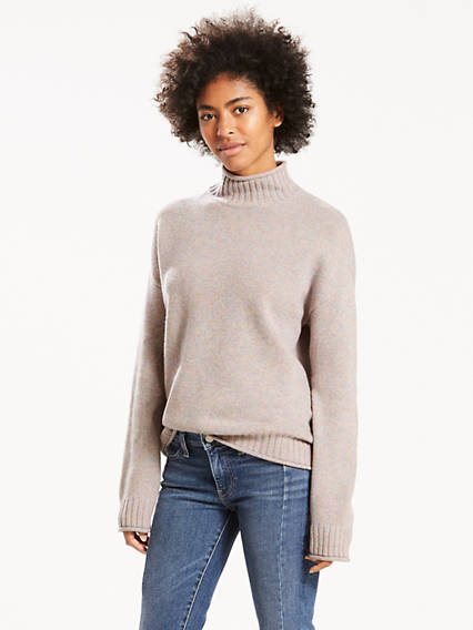 Roll Finish Turtleneck Sweater