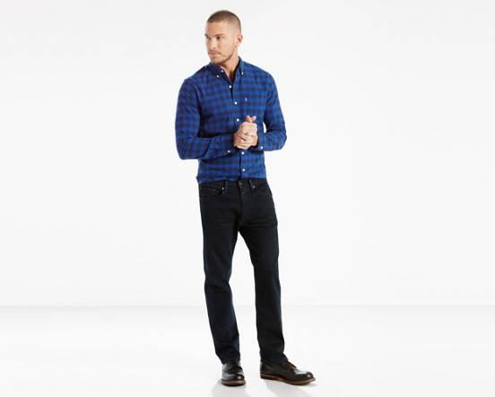 859b32aebcc 505™ Regular Fit Stretch Men's Jeans - Black   Levi's® US