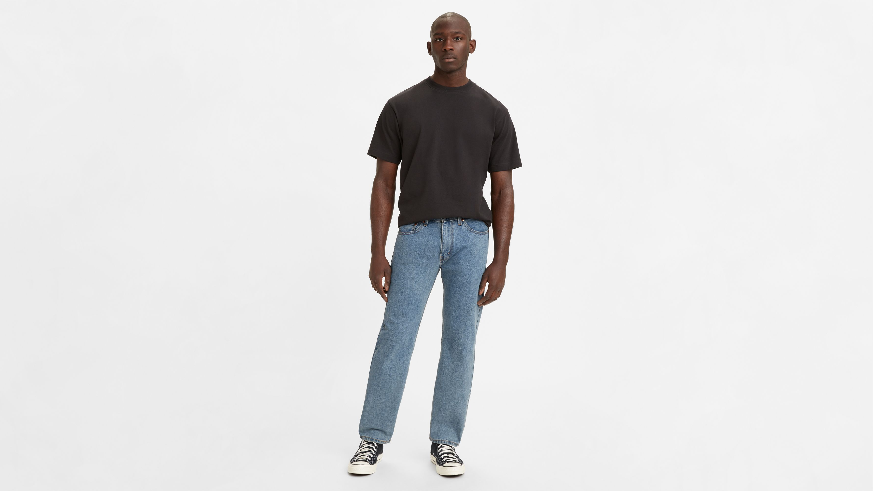 Men-Jeans-505™ Regular Fit Jeans-Light Stonewash