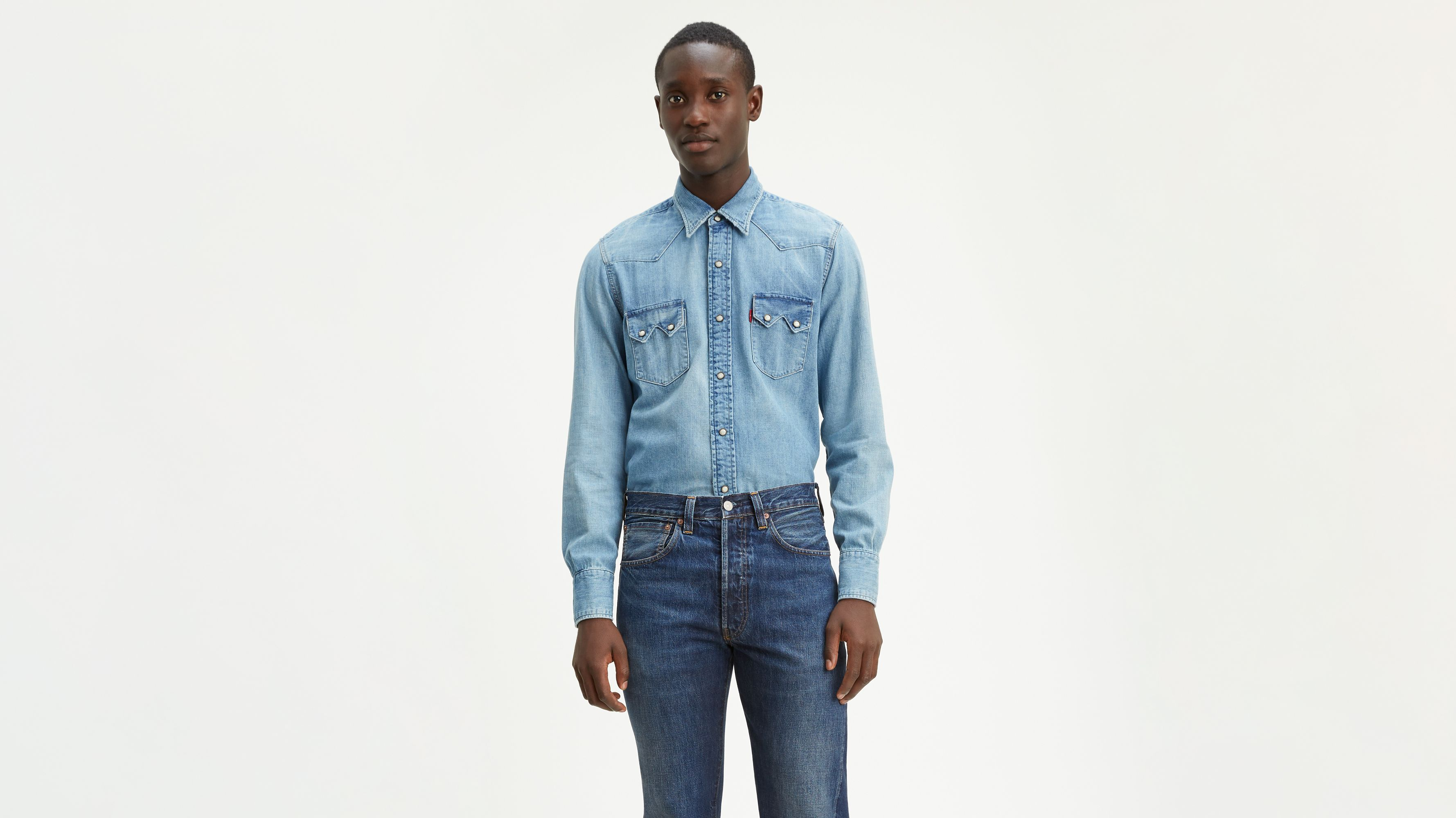 34fcbb4a Levi's® Vintage Clothing 1955 Sawtooth Denim Shirt - Medium Wash | Levi's®  GB
