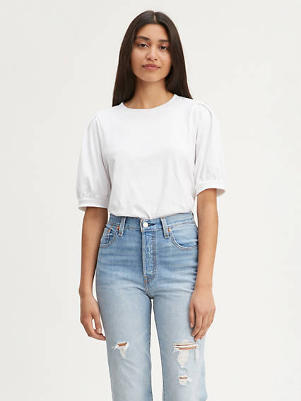 Fashion Puff Sleeve Tee